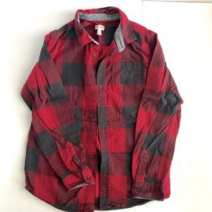 Boys red and gray flannel